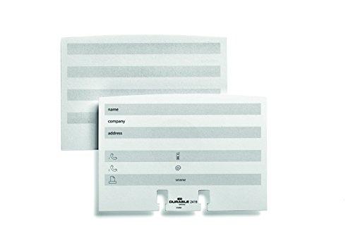 Durable 241902 - Set di Estensione per Schedari Telindex Flip, Telindex Desk, Bianco, Confezione da 100 Schede Contatto Prestampate su Entrambi i Lati