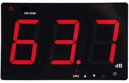 "Yosooo 9.6"" LCD Digital Sound Level Meter, Wall Mounted Noise Meter Tester Measurement Range 30-130dB Noise Tester USB Powered"