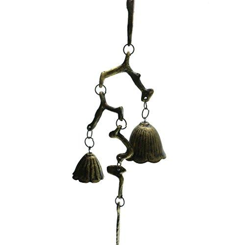 Fenteer Gusseisen Zweig und Blatt Windspiel Wind Glocken Gusseisen Geburtstag Geschenk Weihnachten Geschenk Home Dekor Japanische Wind Chimes Glockenspiele - 1