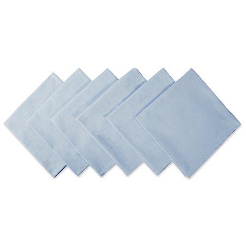 DII Servietten, 100% Baumwolle, Übergröße, 50,8 x 50,8 cm, für den täglichen Gebrauch, Bankette, Hochzeiten, Veranstaltungen oder Familientreffen – Set mit 6 Stück, Hellblau