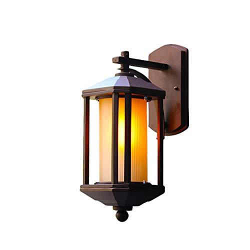 Waterdichte wandlamp voor buitenshuis ZS, wandlampen buiten netvoeding E27 LED buitenverlichting voor wandlantaarn met glazen lampenkap aluminium bevestiging waterdichte veiligheidswandlamp