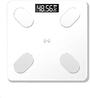 Báscula de peso báscula de peso báscula de peso inteligente Bluetooth APP Báscula electrónica LED digital Báscula de baño (color: blanco)