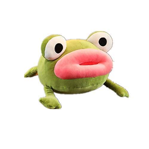 Juguete De Felpa 35Cm Creativo Big Red Mouth Frog Juguete De Peluche Suave Relleno Animal De Dibujos Animados Muñeca Sofá Almohada Cojín Bebé Niños Regalo del Día De San Valentín