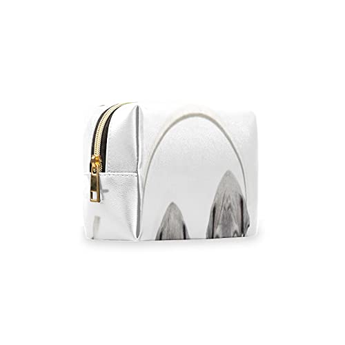 Bolsa de maquillaje portátil, linda bolsa de piel sintética de Aniaml Tiger para bolso, bolsa de aseo impermeable, organizador de accesorios para mujeres y niñas de viaje