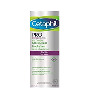 Cetaphil PRO DermaControl Oil Control Moisturizer SPF 30 With Zinc Complex, For Oily and Sensitive Skin - Broad Spectrum Protection With Matte Finish - Dermatologist Recommended, 120ml (B00BMJTPEU) | Amazon price tracker / tracking, Amazon price history charts, Amazon price watches, Amazon price drop alerts