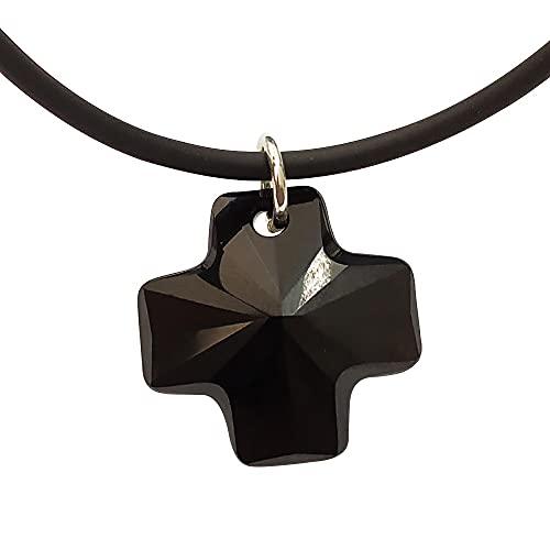 Sicuore Collar Colgante Cruz de Cristal Swarovski - Plata de Ley 925 Incluye Cadena 45cm Y Estuche para Regalo