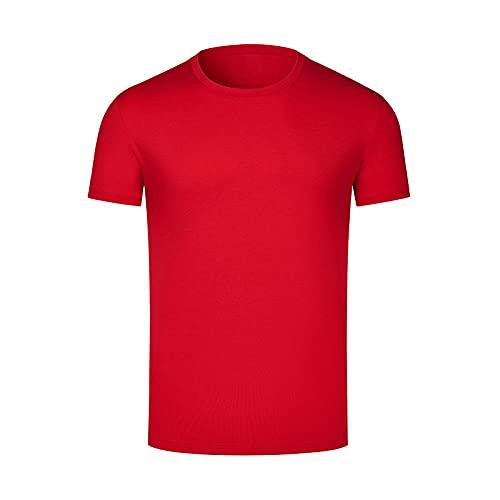 DamaiOpeningcs Top de secado rápido, camiseta de manga corta ropa redonda corbata media mangas-rojo_3XL