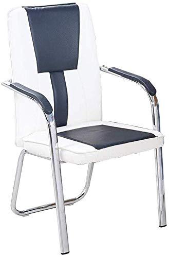 GSN Unique Luxury Home Office Stil Halter Struktur Armlehne Rückenlehne weiche PU-Leder Elegantes Design Uniform Kraft Schwamm, Stahl, Pu Sessel (Color : White)