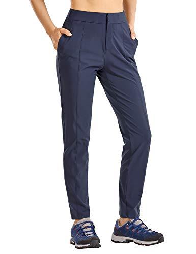 CRZ YOGA Pantalones de Senderismo con Cremallera para Mujer Pantalones Casuales Azul...