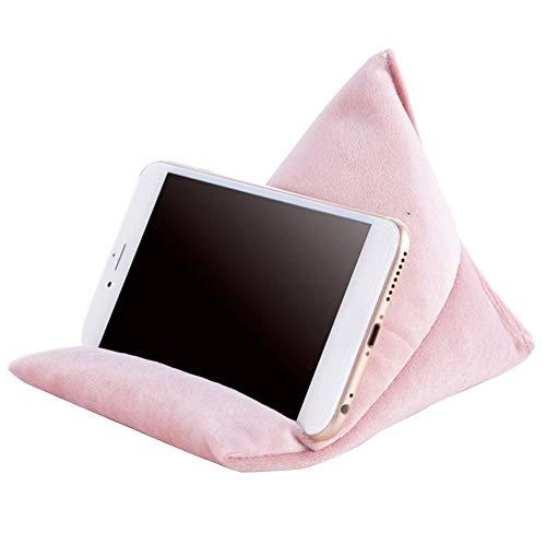 ZAK168 Handy Kissen, Mini Sitzsack Handy & Tablet-Halter, Weich Kissen Faul Ständer für Tablett, Smartphone, E-Reader, Alle Betrachtung Winkel, Ideal für Zuhause oder Reisen (S, Pink)