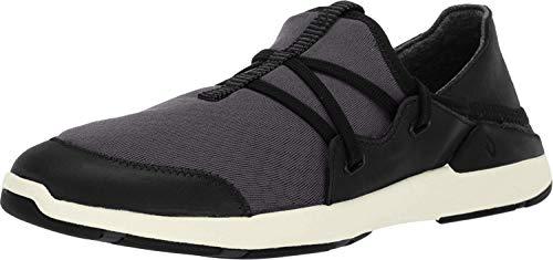 OLUKAI Women's Miki Li Shoe Walking/Water Comfort Shoe with Arch Support, Black/Black, 10 M US