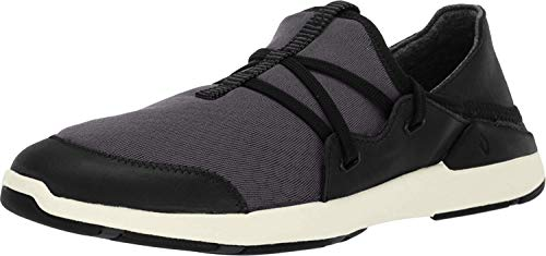 OLUKAI Women's Miki Li Shoe Walking/Water Comfort Shoe with Arch Support, Black/Black, 11 M US