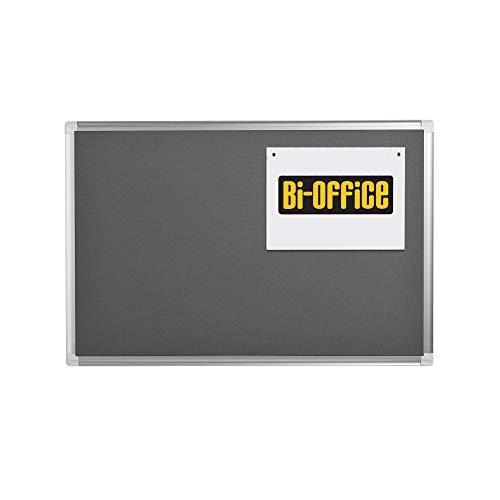 Bi-Office Filztafel New Generation, Pinnwand mit Aluminiumrahmen, 90 x 60 cm, Grau