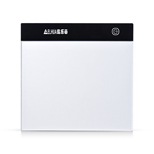 Aibecy Portable A5 LED Light Box Drawing Tracing Tracer Copy Board Table Pad Panel Copyboard with Stepless Brightness Control USB Cable for Artist Animation Sketching Architecture Calligraphy