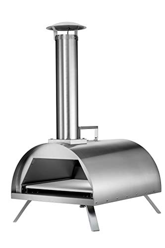 Hayes 12' Outdoor Pizza Oven Wood/Charcoal/Flavored Pellets Pizza Maker Stainless Steel | Fish, Steaks, Chicken, Burgers, Vegetables