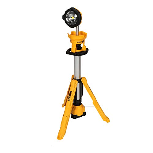 DEWALT 20V MAX LED Work Light, Tripod Base, Tool Only (DCL079B)