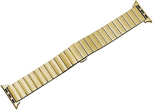 chenghuax Correa de Reloj, Correa de Acero Inoxidable, Adecuada para Pulsera de Pulsera de Metal de 42 mm o 44 mm de 42 mm o 44 mm (Color : 42mm Or 44mm, Size : Gold)