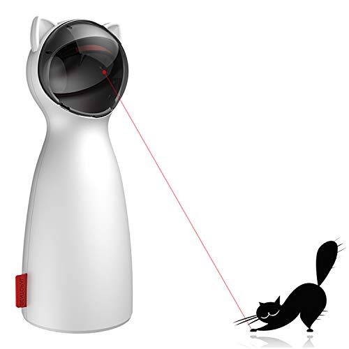 ARELLA Laser Cat Toy Enrichment Cat Toy Chasing Hunting Interactive Cat Toy USB Charging or AA Battery Operated Auto Shut Off Kitty's Faithful Playmate Reduce Obesity CILT01W