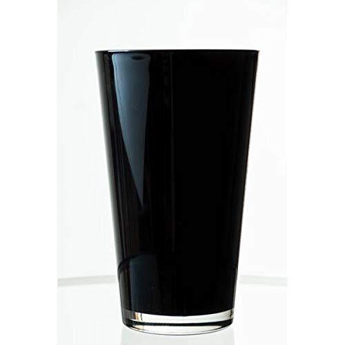 INNA-Glas Konische Vase Sally aus Glas, schwarz, 22cm, Ø 13cm - Blumenvase - Tischvase