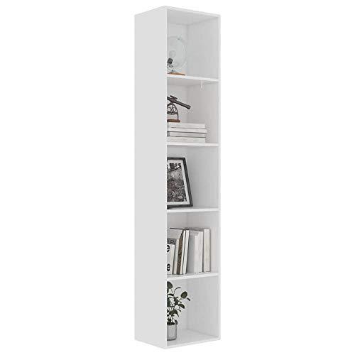 Wooden Bookcase 4 Tier / 5 Tier Freestanding Book Shelf Shelving Display...