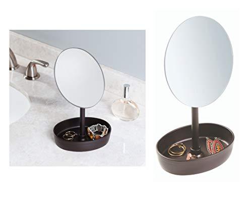 Interdesign 09564EU Miroir de maquillage autoportant Plastique/Métal/Verre Bronze 13,97 x 15,24 x 28,57 cm