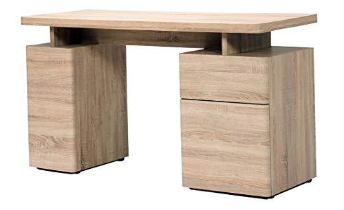 Amazon Marke -Movian Sava - Schreibtisch mit einer Schublade und 2 Türen, 140x55x76cm, Sonoma-Eichen-Farbe