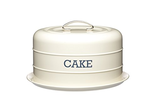 Kitchen Craft Living Nostalgia Antique Cake Contenedor de Pastel, Acero, Blanco