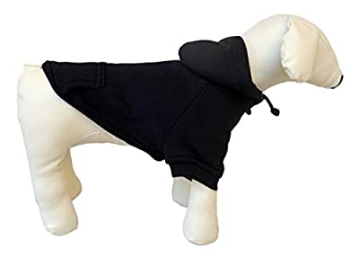 lovelonglong 2020 New Pet Clothing Clothes Dog Coat Hoodies Winter Autumn Sweatshirt For Small Medium Large Size Dogs 11 Colors 100% Cotton Black L