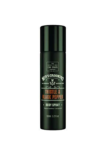 Men's Grooming by Scottish Fine Soaps Thistle & Black Pepper Body Spray 150ml
