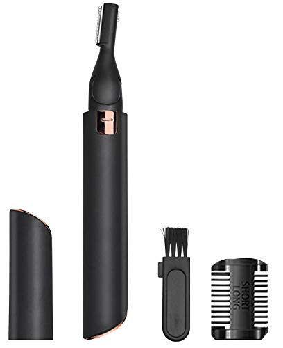 Eyebrow Trimmer, Eyebrow Razor for Women and Men, Painless Instant Hair Removal, Great for Eyebrows, Face Hair, Bikini Lines, Battery Included