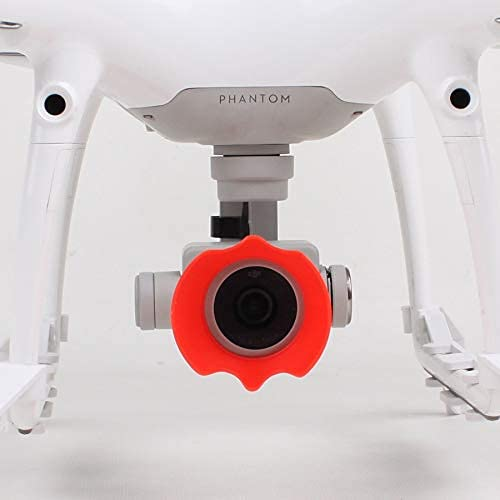 Fint hantverk kameraskydd solskydd kameralins huva solskydd parasoll kronblad typ linsskydd för för för för till DJI för för Philips 4PRO/4PRO+ för reservdelar (färg: Röd