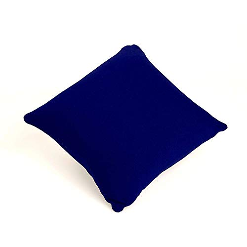 Cushie Pillows 11 inches x 11 inches Microbead Squishy/Flexible/Comfortable Square Pillow (Navy Blue, Removable)