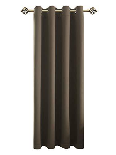 FLOWEROOM Verdunkelungsvorhang Blickdichte Gardinen - Lichtundurchlässige Vorhang mit Ösen für Schlafzimmer Geräuschreduzierung Taupe 245x140cm(HxB), 1 Stück