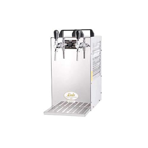 ich-zapfe Spillatore Birra Contatta 70 unità di Raffreddamento a Secco a 2 Linee spillatrice Birra, 90 Litri/h