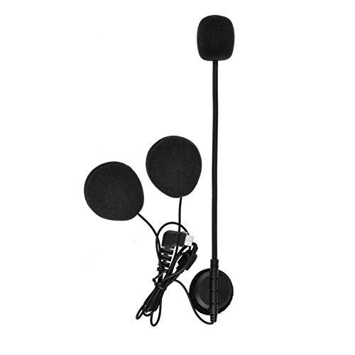 QSPORTPEAK Micrófono Auricular Cable Duro Auricular Accesorio para BTS2 y BTS3 Serie Casco de la Motocicleta Bluetooth Interphone Moto Intercomunicador(Interfaz de Tipo C)