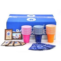 5 Kit accessori caffè Borbone (Ogni kit comprende:100 palette, 100 zucchero, 100 bicchierini)