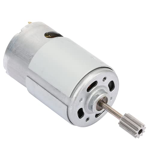 Motor eléctrico, motor de coche de juguete exquisito mano de obra RS550 Motor para coche de juguete para coche de juguete eléctrico DIY para cortacésped (12V550-15000 rpm, tipo torre inclinada