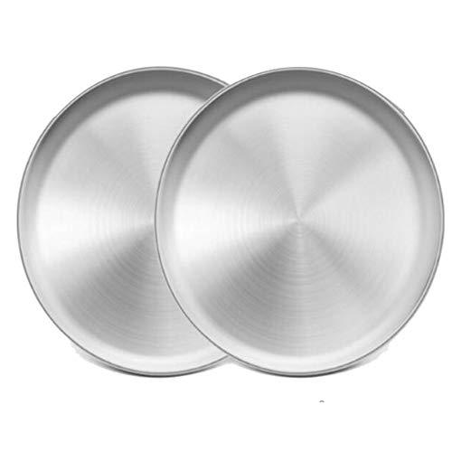 Noblik 2 bandejas de acero inoxidable para pizza de 33,5 cm
