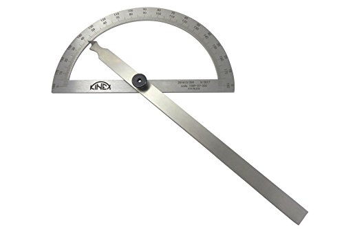 Kinex 1089-07-200 7-3/4 Inch (200 mm) Stainless Steel Machinist Protractor Angle Finder