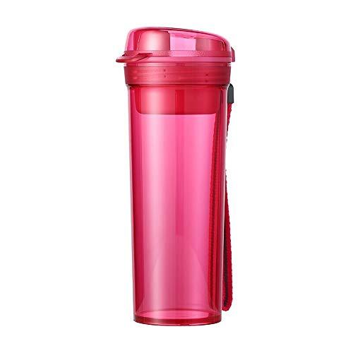 GD-BLB Tupperware, dicht verschlossen, Wasserbecher, Trinkflasche Sport, Wasserflasche Auslaufsicher,400ML Sportflasche BPA frei,Sporttrinkflaschen für Sport, Fitness, Fahrrad, Fußball, Outdoor (Rot)