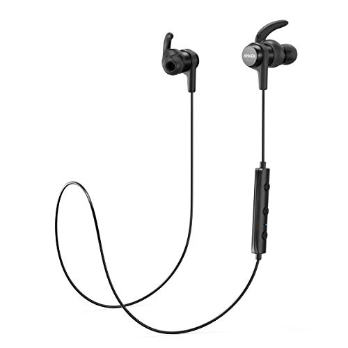 Anker SoundBuds Flow Bluetooth Headphones, In-Ear headphones with Bluetooth 5.0, IPX7 Waterproof and 12 Hour Playtime, Sport Headset with Magnetic Connector for Fitness and Workouts