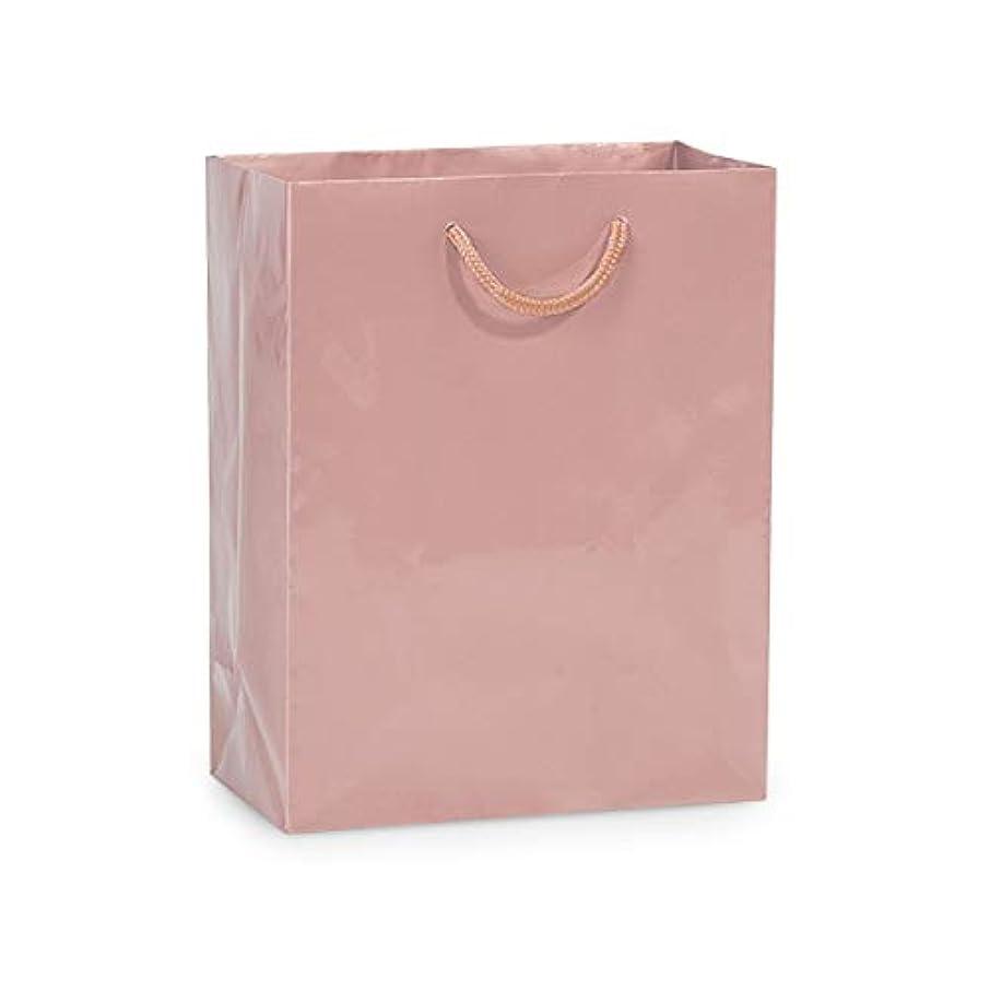 BonBon Paper Premium Luxe Glossy Medium Gift Bags (Rose Gold)