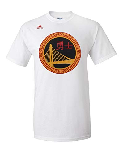 Golden State guerreros blanco chino año nuevo orgullo Logo camiseta, hombre, blanco