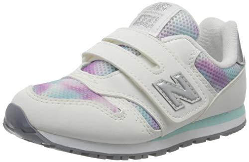 New Balance 373v2 n, Zapatillas para Niñas, Blanco (White/Purple Gw), 35 EU