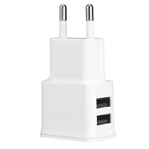 Cargador portátil Profesional 2A Dual 2Ports USB Adaptador de Cargador de Pared de la UE para Samsung iPhone HTC Moto