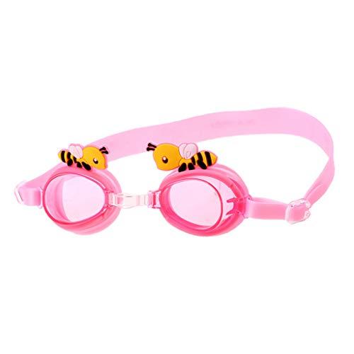 perfeclan Gafas de Natación para Niños - Espejo con Revestimiento Antivaho - Correa Ajustable - Visión Clara - Diseño a Prueba de Fugas - Estuche Protector para - Rosado