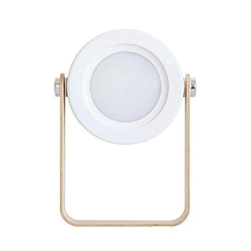 Yuxahiugtd Lámpara de Mesa Plegable Regulable, lámpara de Mesa Linterna Creativa, lámpara de Escritorio LED portátil, luz Nocturna, Recargable, Interruptor de Encendido/Apagado táctil, luminaria