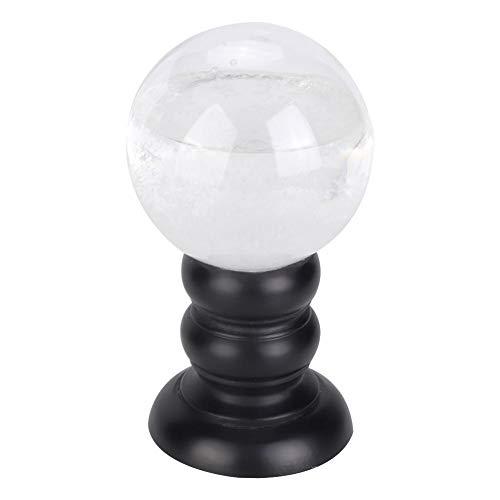 Redxiao 【𝐁𝐥𝐚𝐜𝐤 𝐅𝐫𝐢𝐝𝐚𝒚】 Vidrio de pronóstico meteorológico esférico Innovador, decoración del hogar Estaciones meteorológicas de Cristal Transparente Estilo Decorativo Simple