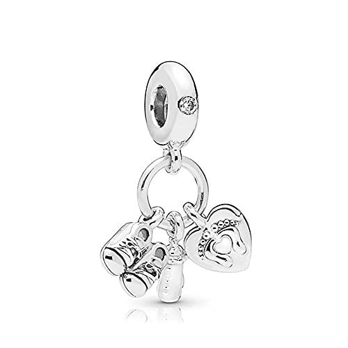 Pandora 925 Silber Liebe Babyschuhe Pan Charms Armband Babyflasche Kind Sohle Herz Perlen Für Schmuck Machen Frauen Armreif Diy Exquisites Geschenk