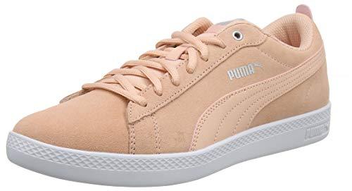 Puma Damen Smash WNS v2 SD Sneaker, Pink (Peach Bud-Silver-Puma White 14), 42 EU